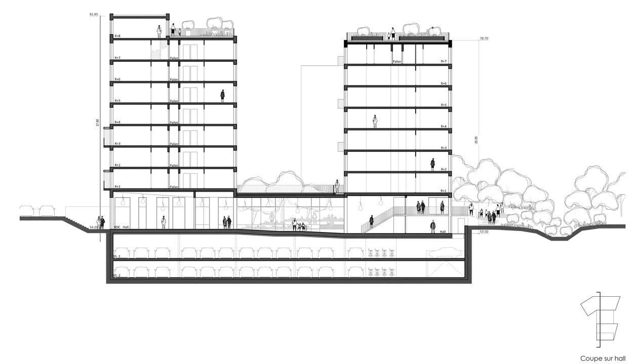 Logements archives agn s cantin architecture for Coupe verticale d un batiment